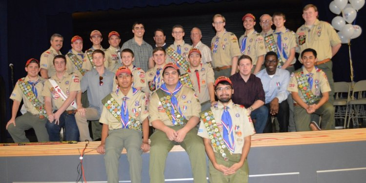 A gathering of 26 Eagle Scouts