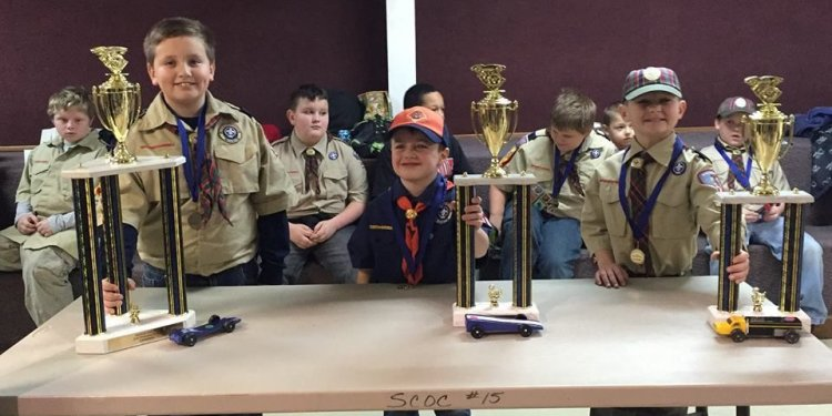 Boy Scouts hold Pinewood Derby
