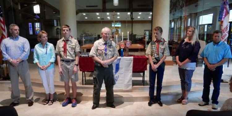 The new Eagle Scouts Harrison