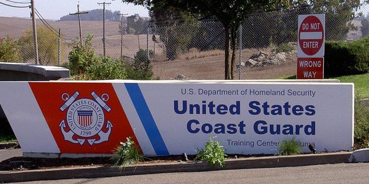 Entrance to Coast Guard