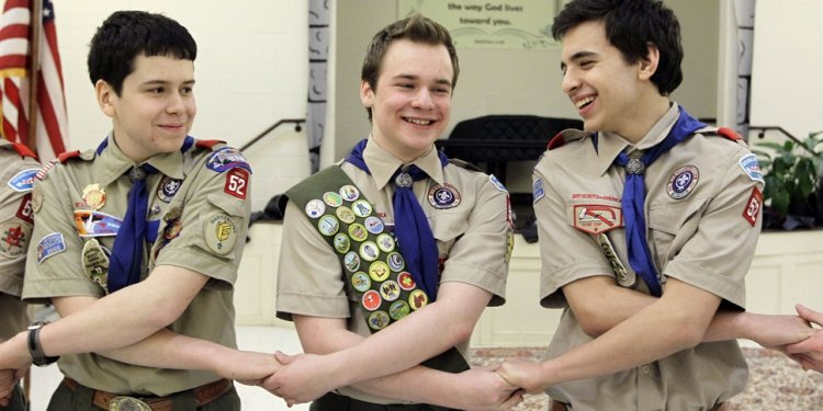 Stay with Boy Scouts met