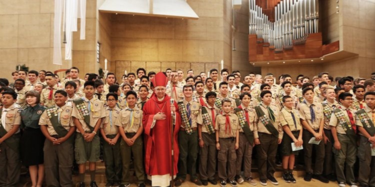 Banner boy scouts archbishop