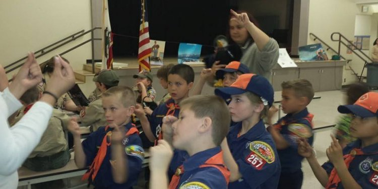 The Cub Scouts also learned