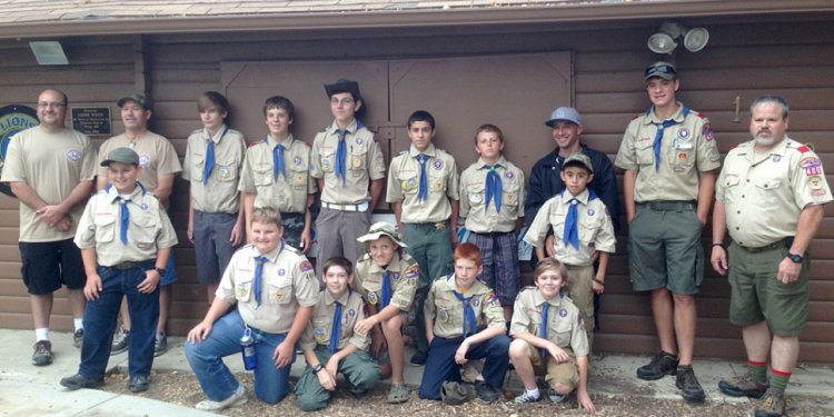 Boy Scout Troop 406 left for