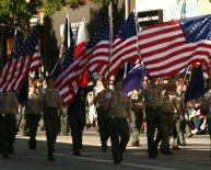 Boy Scout California Troop flags