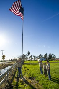 Troop 119 Flag Salute - Tiffani Jacobs