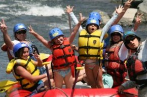 Whitewater rafting with Kids!